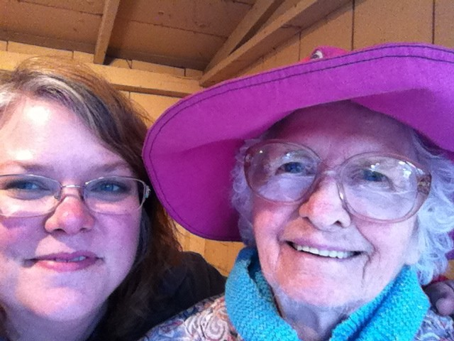 Betse with Violet Hensley, October 2012